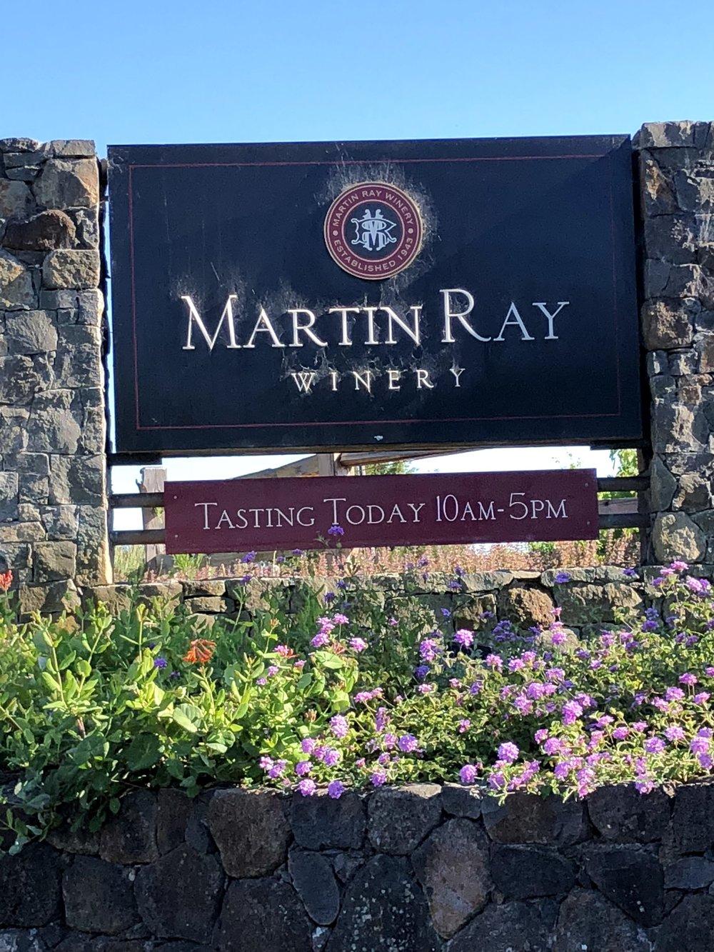 Wine Tasting At Martin Ray Santa Rosa