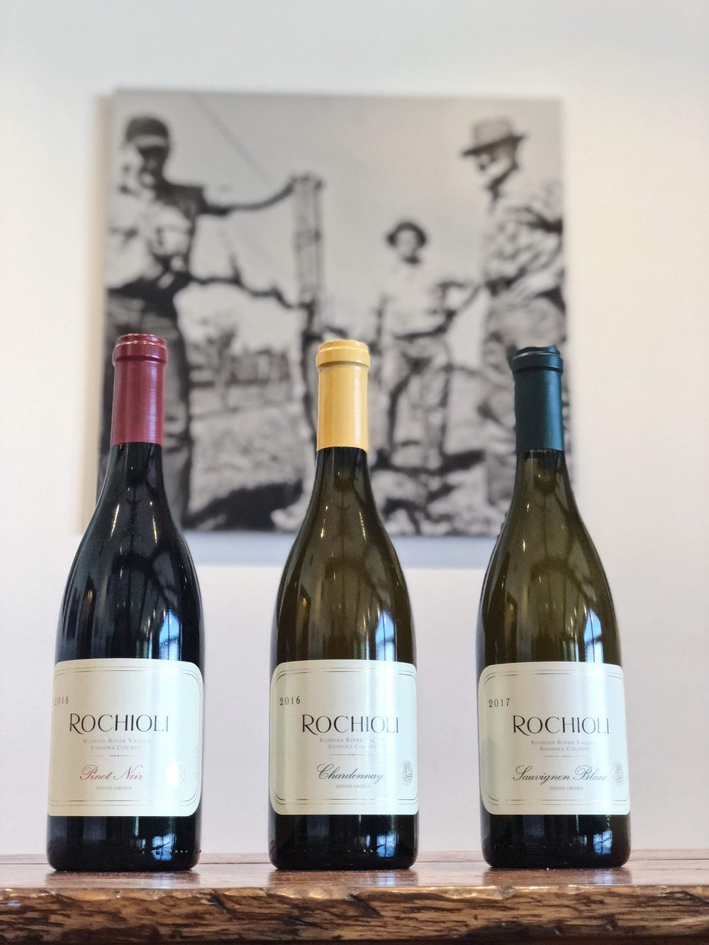 Rochioli Pinot Noir and Chardonnay Wines