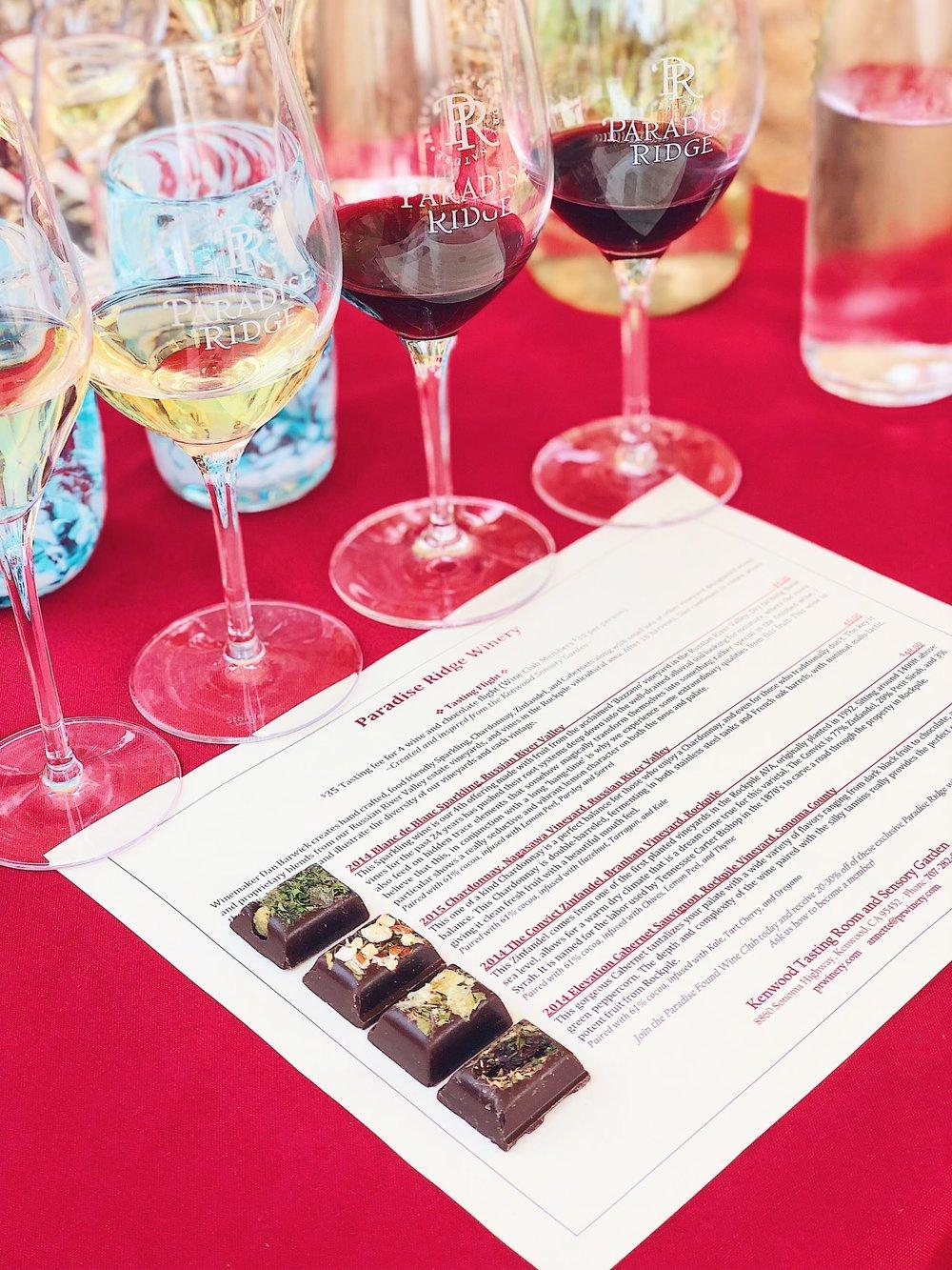 Paradise Ridge Winery Sensory Experience