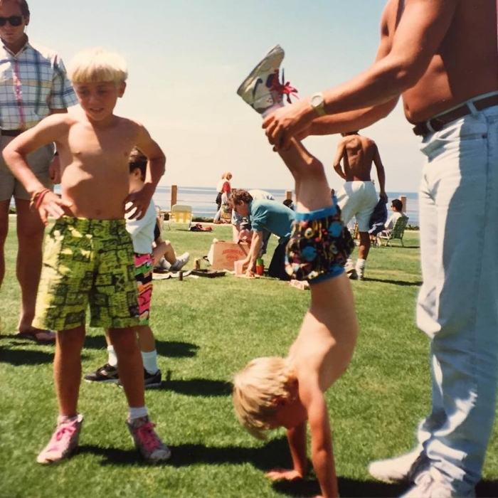 Photo from  Ashes in the Ocean : Early yoga days with  John Maher . La Jolla, Ca. Circa 1990