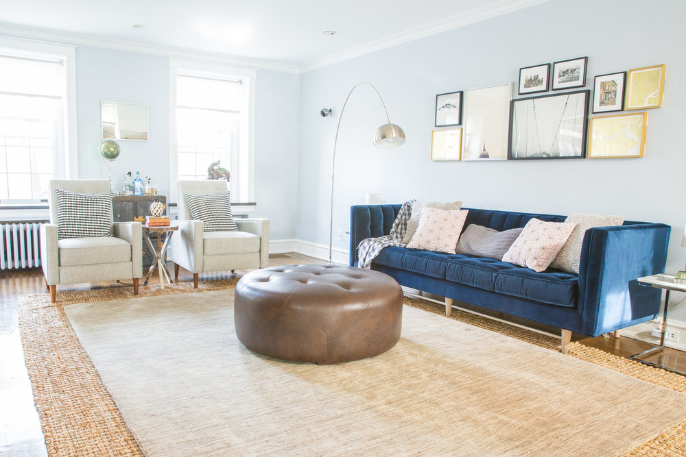 Michelle Gage // Before + After: Feminine / Masculine Living Room