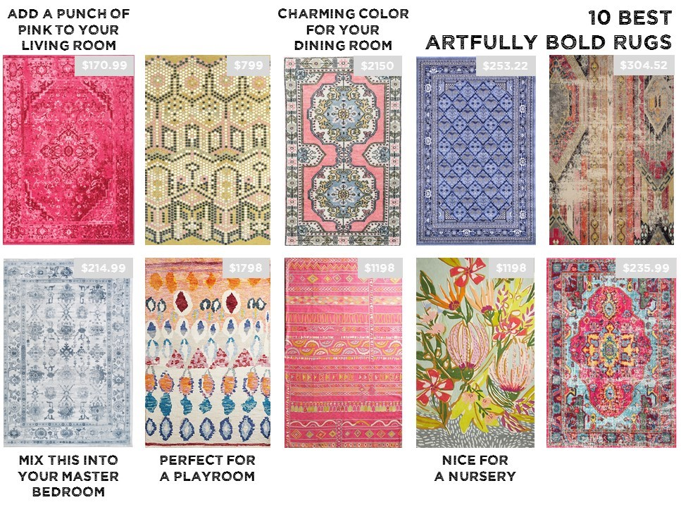Michelle Gage // Product Round Up: 10 Artfully Bold Rugs + Choosing The Right Size