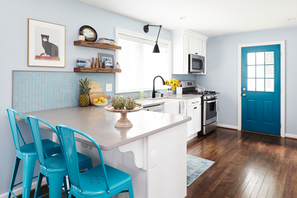Michelle Gage // Blue + White Kitchen in Bala Cynwyd