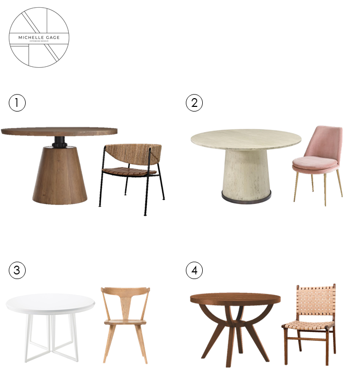 Michelle Gage // Perfect Pairings: 8 Round Dining Table + Chair Combos For Your Small Space