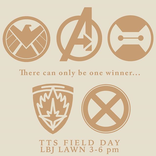 Remember to come out to Field Day tomorrow from 3-6!! Represent your family in a series of games and challenges on LBJ lawn and earn those points! See y'all there :)