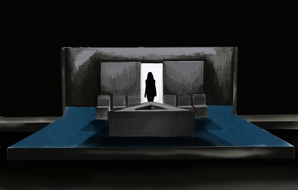 Theatre rendering for 'Top Girls' by Caryl Churchill