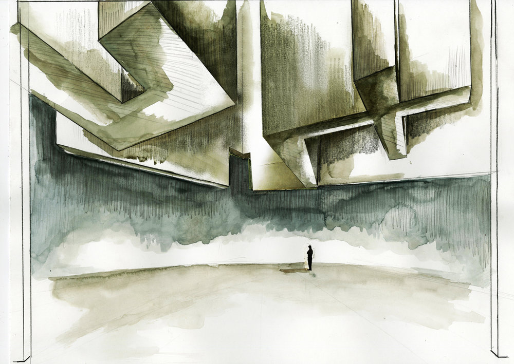 Theatre rendering for 'Antigone' by Jean Anouilh