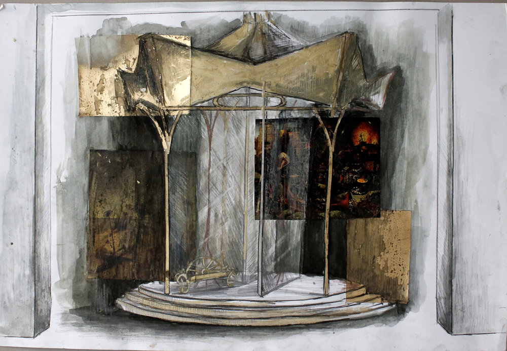 Theatre rendering for 'Uncle Vanya' by A.P.Chekhov