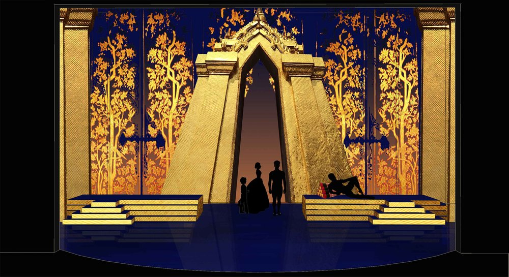 Theatre rendering for 'The King and I' by Oscar Hammerstein II - Palace entrance