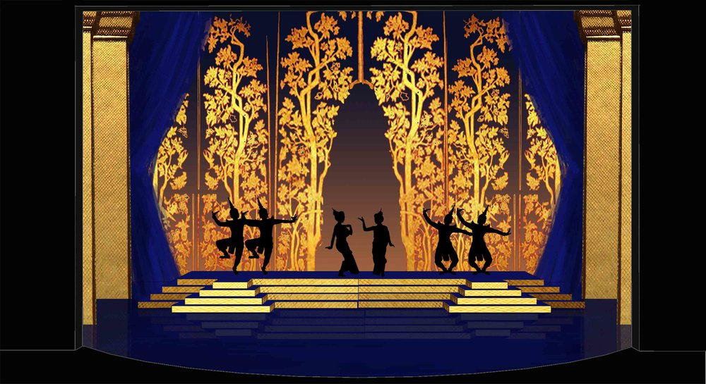 Theatre rendering for 'The King and I' by Oscar Hammerstein II - The Ballet