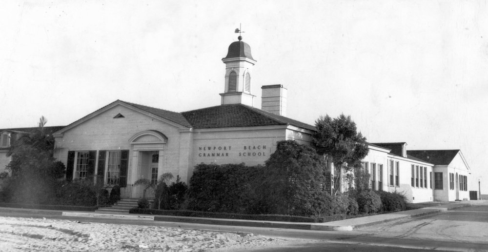 Newport Beach Grammar School, ca 1947.