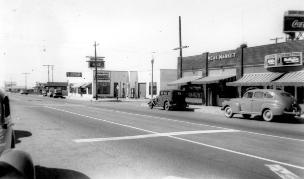 Downtown Cypress, 1941 (Courtesy the Orange County Archives).