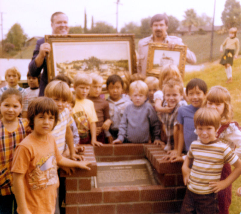Dedication day for the upper El Camino Real plaque, September 28, 1976 (courtesy the Orange Public Library and History Center).