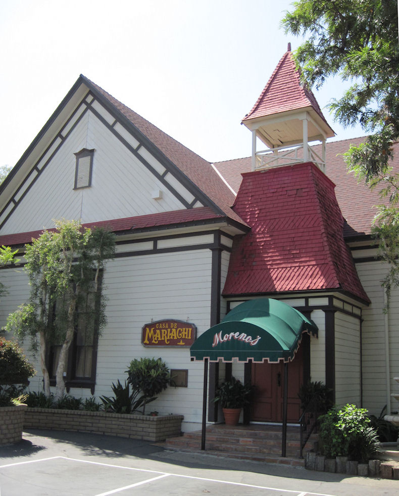 The El Modena Friends Church (now part of Moreno's Mexican Restaurant).