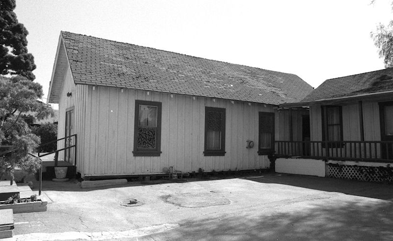 The original Wintersburg Japanese Presbyterian Mission church, dedicated in 1910 (photo by Phil Brigandi, 1986, courtesy the Center for Oral and Public History, California State University, Fullerton).