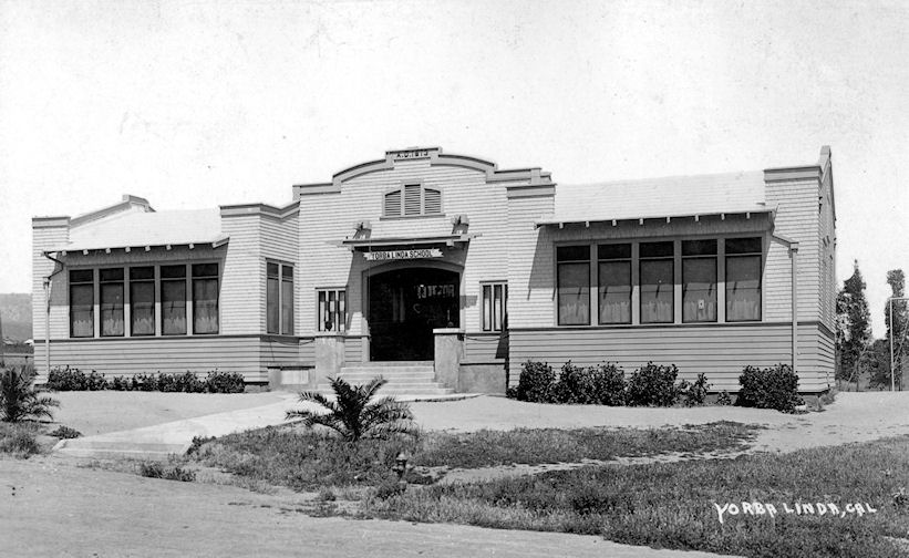 The Yorba Linda Grammar School, built in 1913 (courtesy the Orange County Archives).