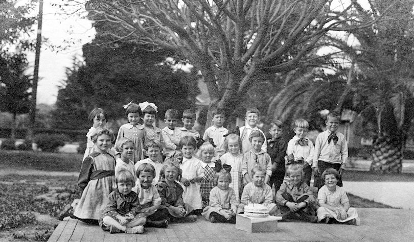 Kindergarten class at Center Street School in Orange, circa 1920 (courtesy the Orange Public Library and History Center).