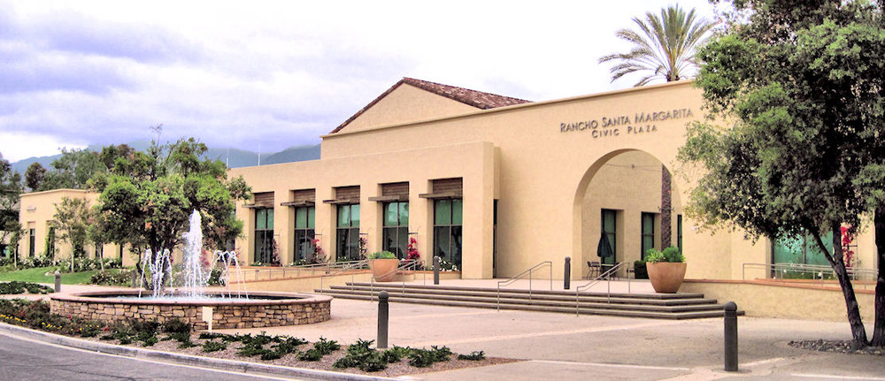 Rancho Santa Margarita Civic Plaza, 2018.