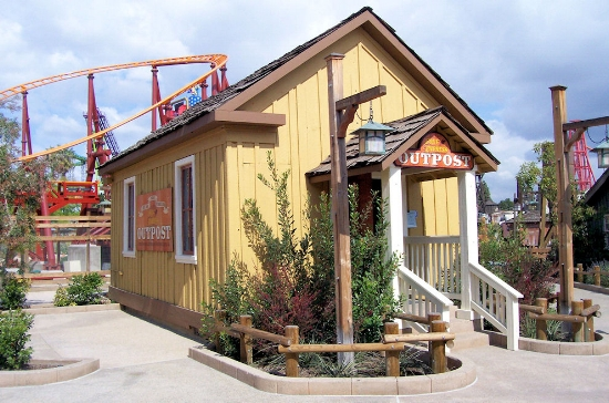 The Maizeland School, much remodeled, at Knott's Berry Farm, 2009.