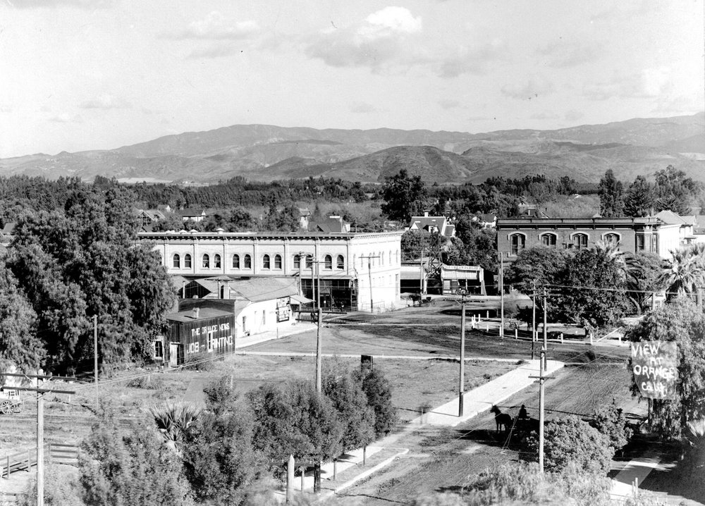 Looking northeast across the Plaza, 1907.
