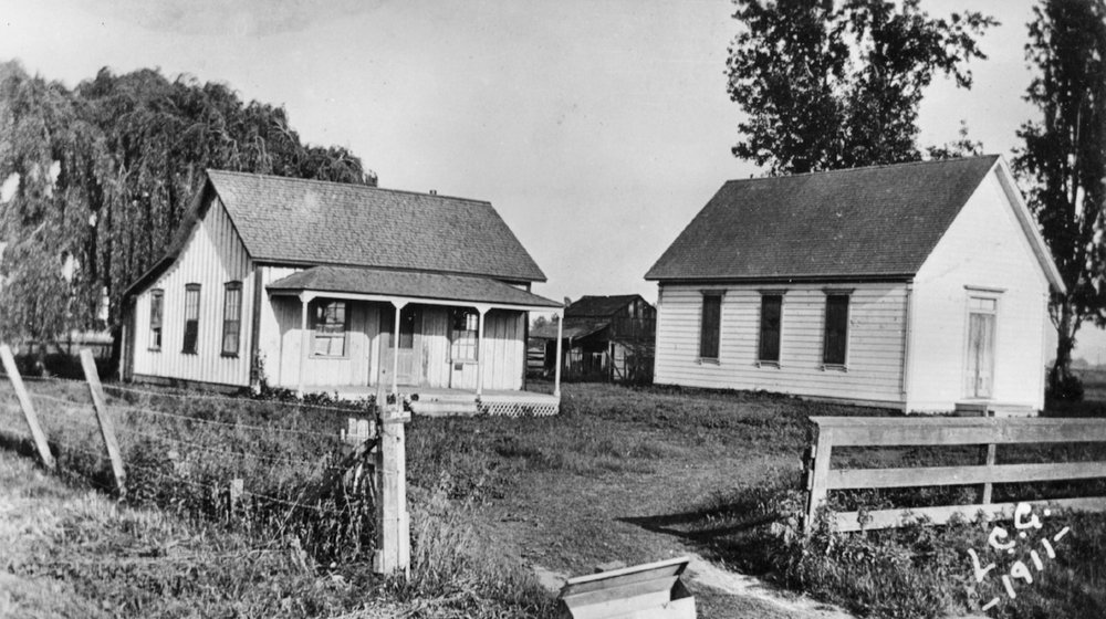 The old Newport Methodist Episcopal Church South, 1911. Today it is part of the Greenville Country Church campus (Courtesy the First American Corporation).