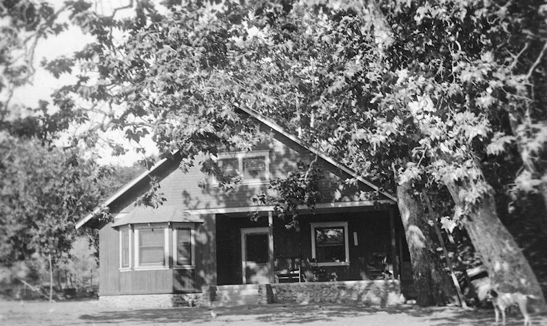 The Sleeper ranch house along Trabuco Creek, circa 1910.