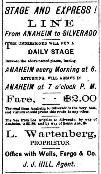 ( Anaheim Gazette , August 17, 1878)