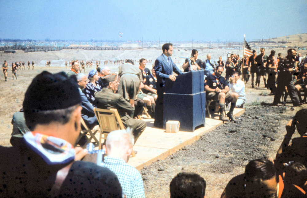 Vice President Richard Nixon was one of several guest speakers at the 1953 Boy Scout Jamboree.