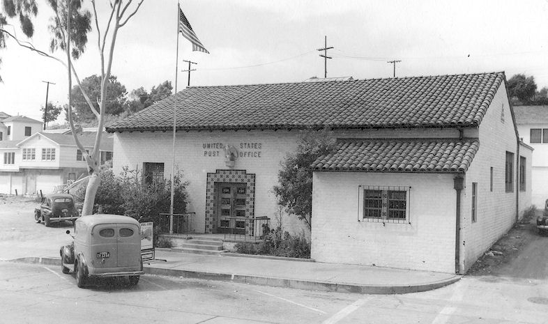 The new Laguna Beach Post Office, shortly after it opened in 1941 (courtesy the Orange County Archives).