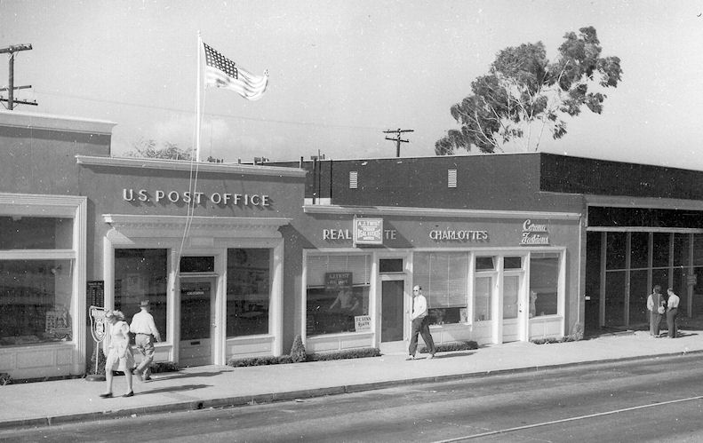 The Corona del Mar Post Office in the 1950s.