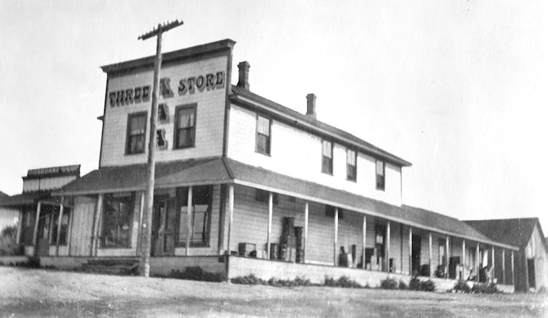 Arthur Avery's Three-A Store, also the site of the El Toro Post Office, circa 1909 (Sleeper family collection, courtesy Nola Sleeper).