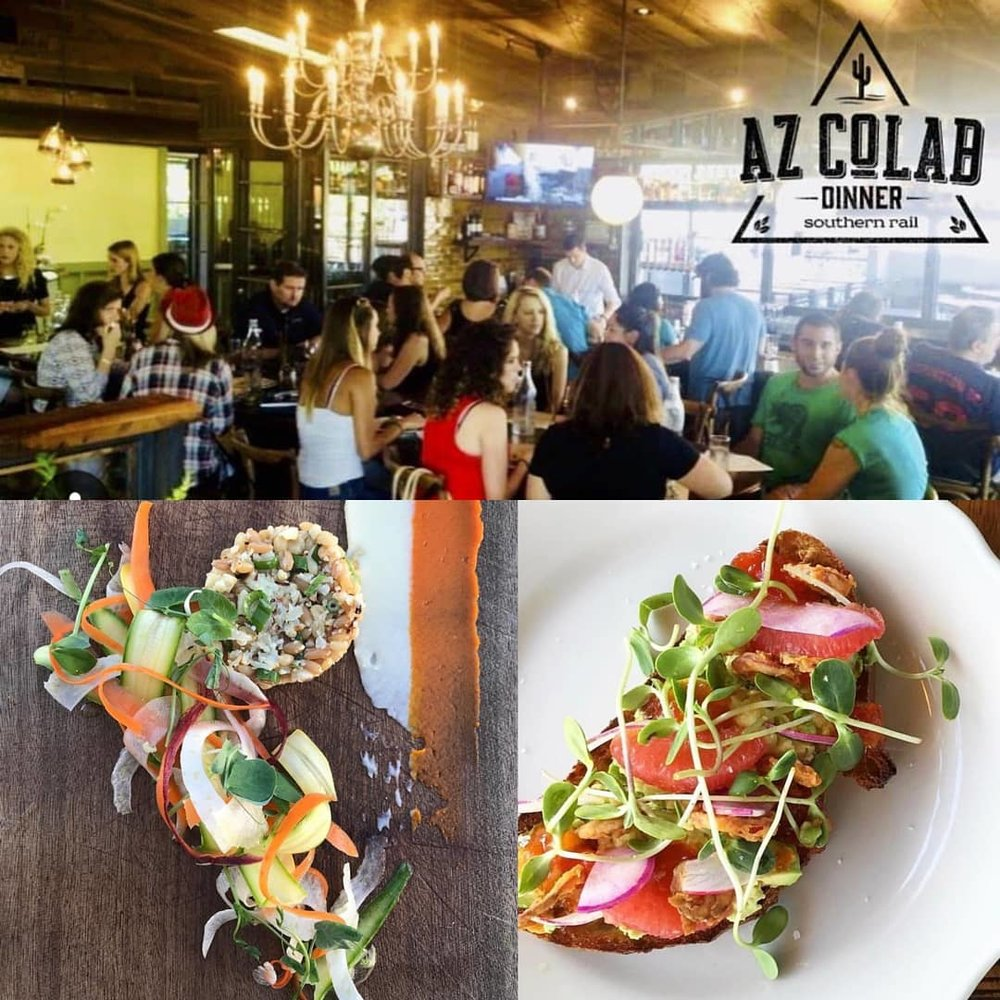 #azcolab Dinner Series - 8/30/18 - One-off menu created by Chef Justin Beckett of Beckett's Table and Southern Rail. Dishes featuring Mesa Micro Farm produce, and focusing on the versatility of Micro Greens.Click HERE to purchase tickets!