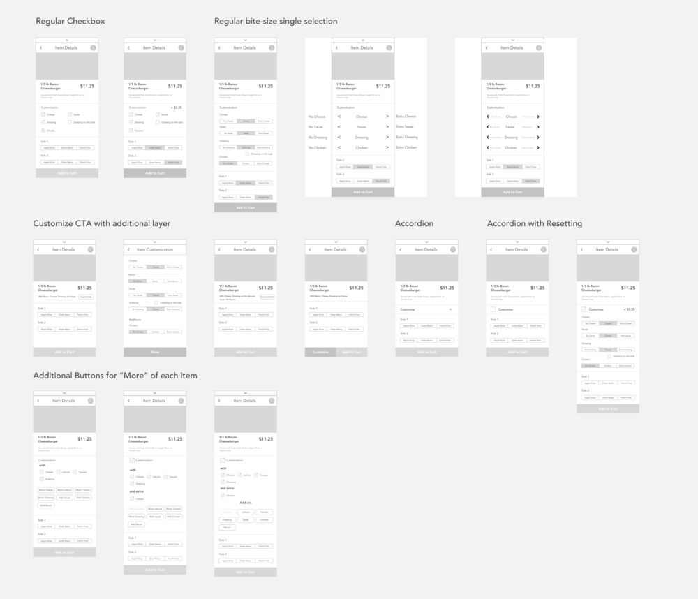Customization Wireframe Options