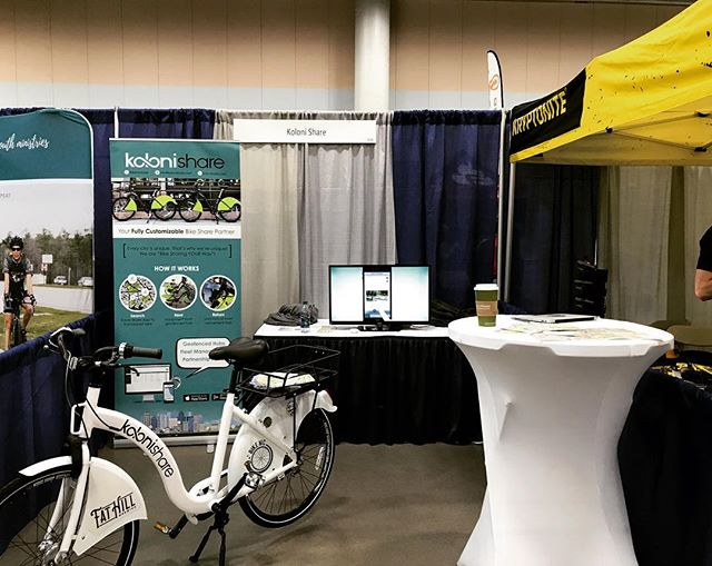 A great time at the #iowa #bike #expo - met with some representative to a few of our future #bikeshare cities.