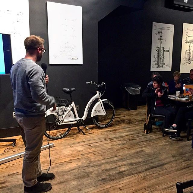 We had a great time speaking at the Mason City, Iowa Draft last night.  #peopleforbikes #bikeshare #sharingeconomy #bikesharing #urbanmobility