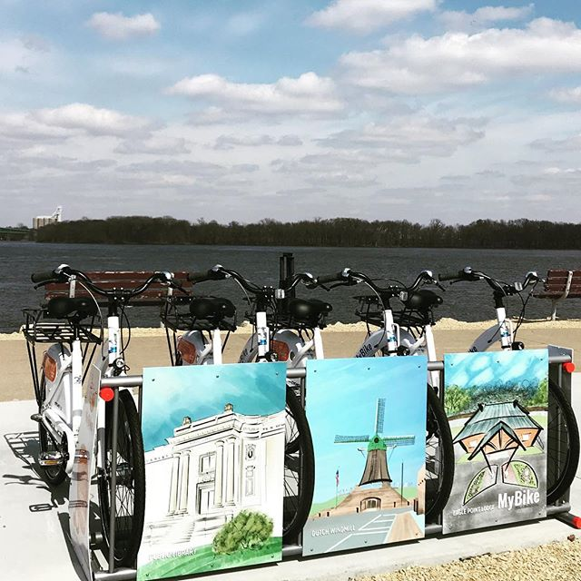 One of our newest bike share projects. Clinton, Iowa! #bikeshare #hybridbikeshare #sharingeconomy #bikesharing #urbandesign #sharedmobility