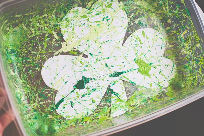 Marble Painted Shamrocks