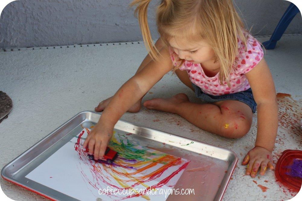 Rainbow Car Painting