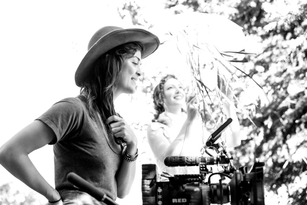 "LBMINNICH on set directing her film ""TURUQ"""