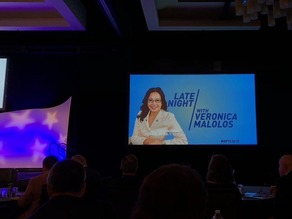 Late Night With Veronica Malolos - Featured speaker at NAR's Realtor Party Training Conference.(2017)