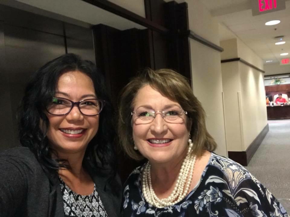 With Orange County, FL, Mayor Teresa Jacobs
