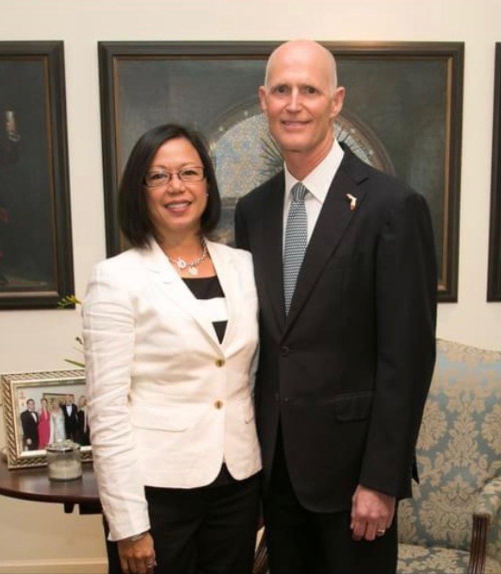 With Florida Governor Rick Scott