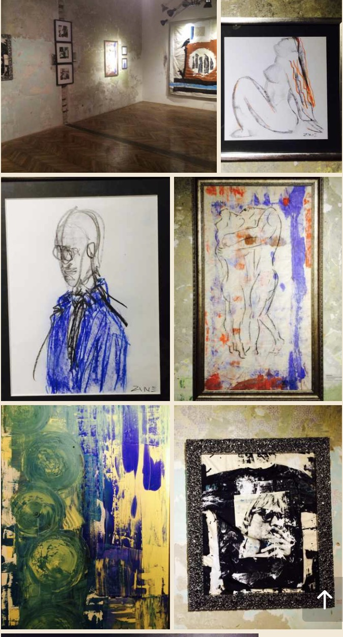 Multiple Works - All sold at benefit for Syrian refugees at The Brody House in Budapest.