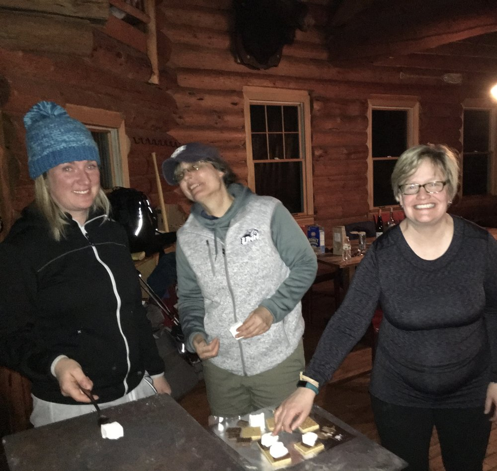 Smores!! What else is there during a winter cabin trip!?