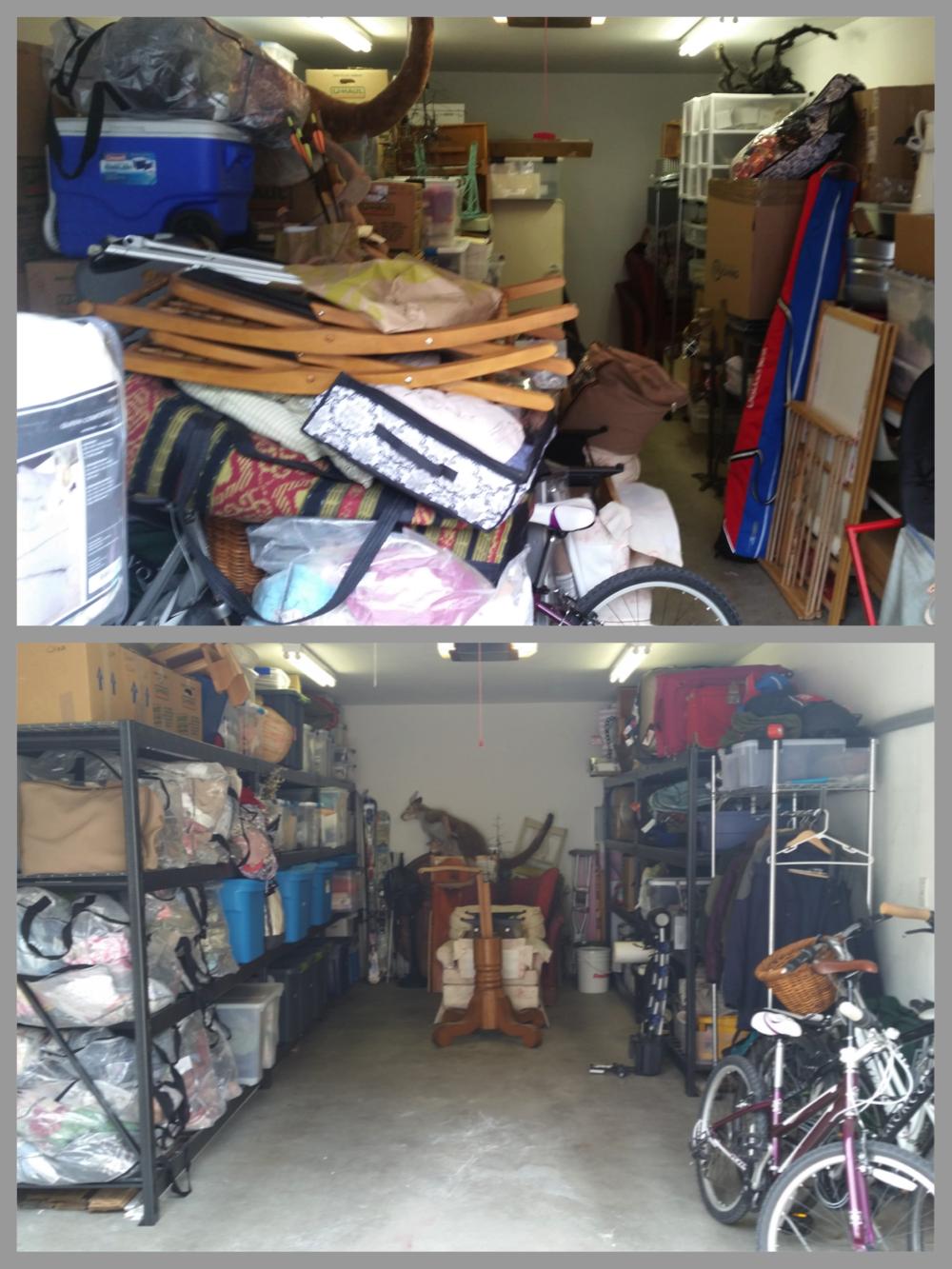 Garage Declutter & Reorganization: Before & After