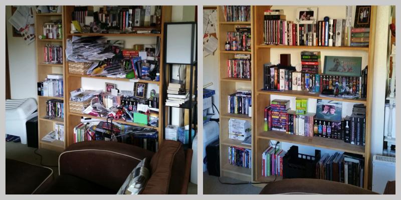 Shelf Organization: Before & After
