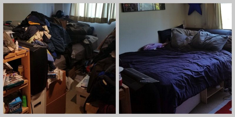 Bedroom Organization: Before & After