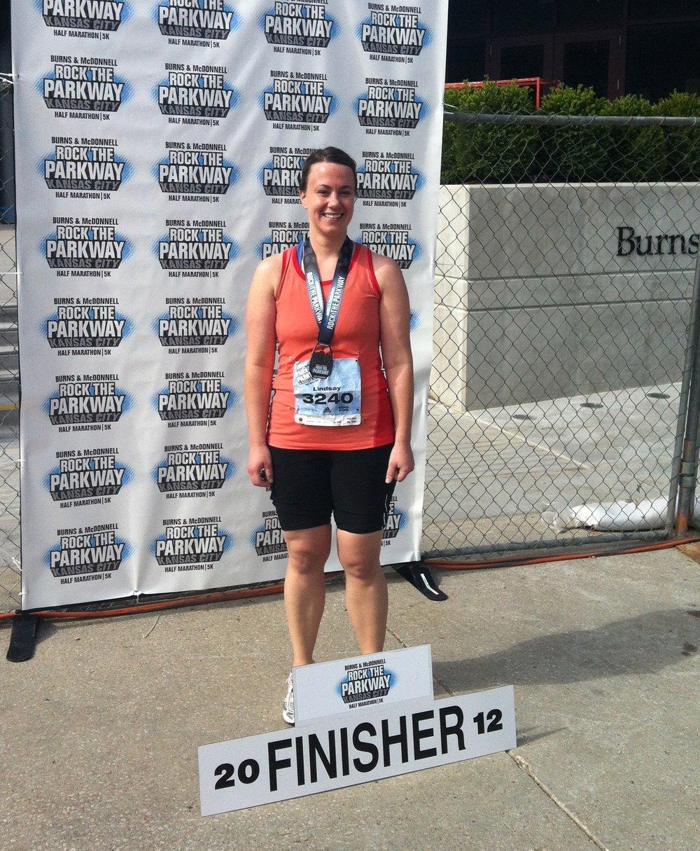 my 1st half marathon