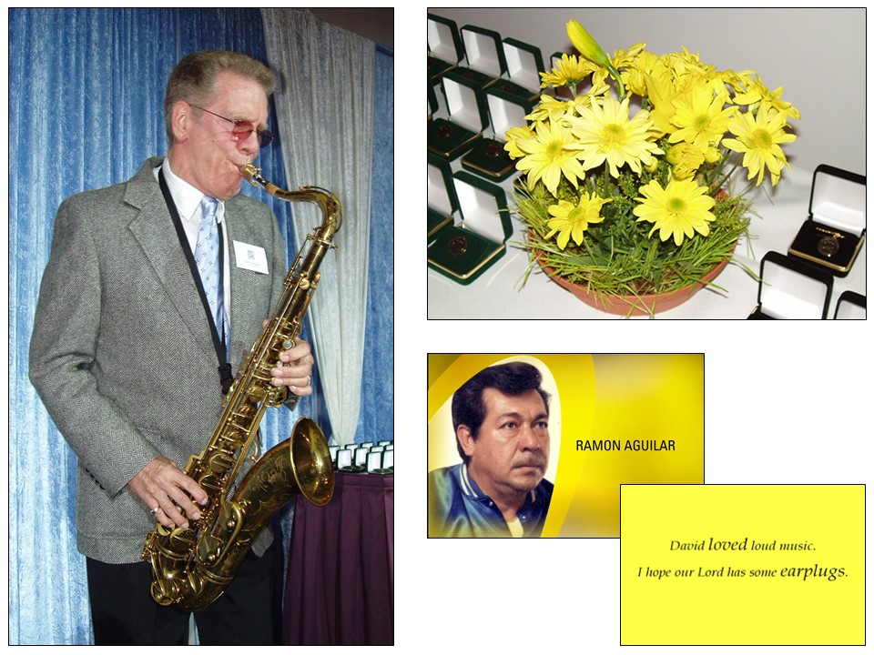 The theme was underscored by an event-opening instrumental by heart recipient Terry Harrington, understated centerpieces, and Eva Cassidy's cover version as the climax of a concluding video tribute, which was presented in chapters inspired by the song's lyrics.