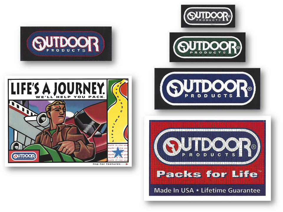 Dated labels and merchandising were replaced by labels with neutral colorways and hangtags that emphasized the unique racetrack logo, US origin, and lifetime guarantee, framed within a textured canvas.